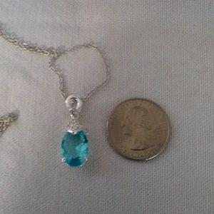 """Blue """"Aquamarine"""" Necklace"""